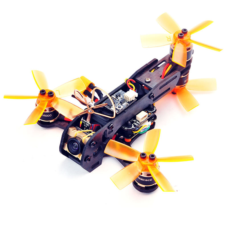 High Quality Realacc Scops 100 Micro Y4 BNF FPV With F3 OSD 10A BLheli S Dshot600