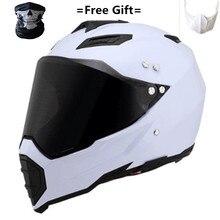 цена на Hot sales off-road helmets downhill racing mountain full face helmet motorcycle moto cross casco casque capacete white