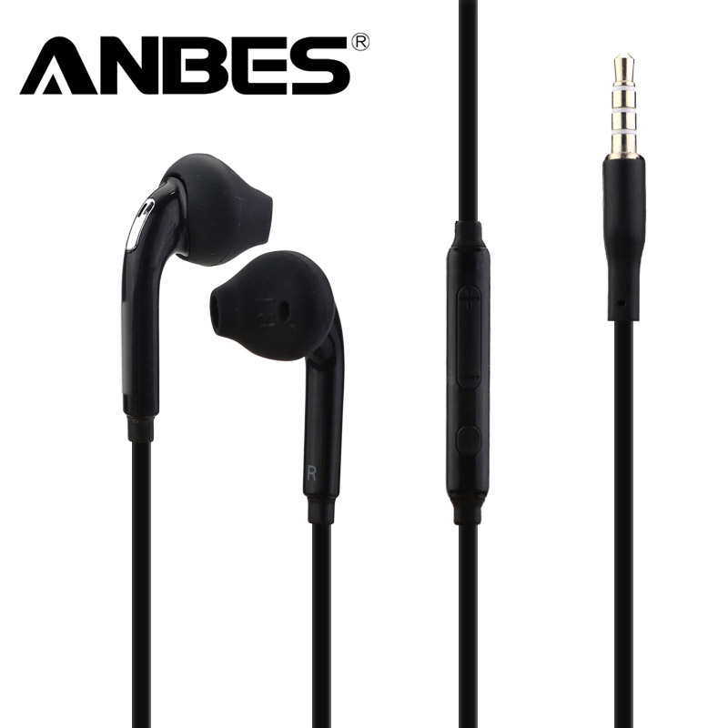ANBES In-Ear Wired Earphone Heavy Bass Sound Stereo Music Headphones Sport Headset fone de ouvido For Samsung S6 S5 S4 Xiaomi kz ed8m earphone 3 5mm jack hifi earphones in ear headphones with microphone hands free auricolare for phone auriculares sport
