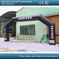 Envío libre 8x4 m línea de meta inflable arco arco inflable con logotipo personalizado arco inflable de carreras