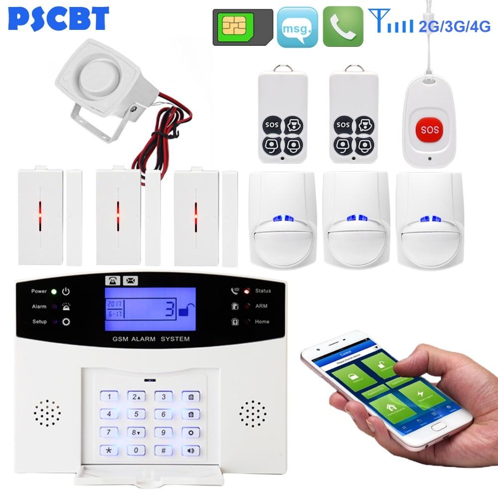 New GSM+LCD+2G Wireless Smart Home Security Burglar Door Alarm System Sensor