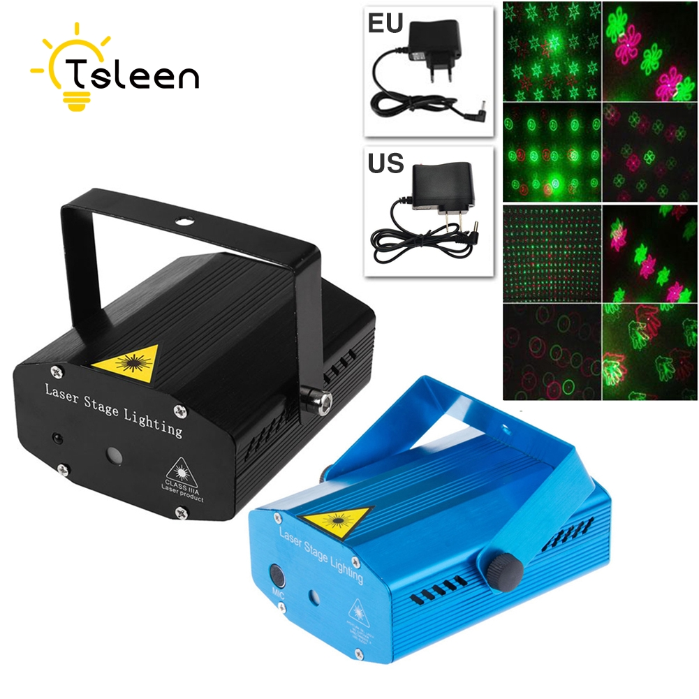 TSLEEN LED Laser Projector 20 Pattern Christmas Decoration Laser Stage Light Pointer Voice Active Disco DJ Xmas Party Club Light christmas decoration xmas tree pattern cake towel