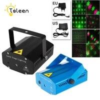 TSLEEN LED Laser Projector 20 Pattern Christmas Decoration Laser Stage Light Pointer Voice Active Disco DJ