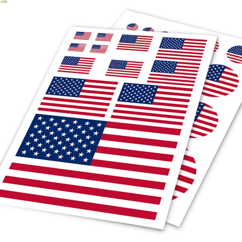USA flag design hign quatity vinyl sticker labels on car for FORD FOCUS 2 ,3 and so on,car decor accessories