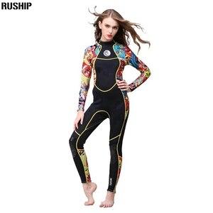 Image 5 - Hisea נשים 3 mm SCR neoprene חליפת צלילה גבוהה גמישות צבע תפרים לגלוש צלילה חליפת ציוד מדוזות בגדים ארוך שרוולים