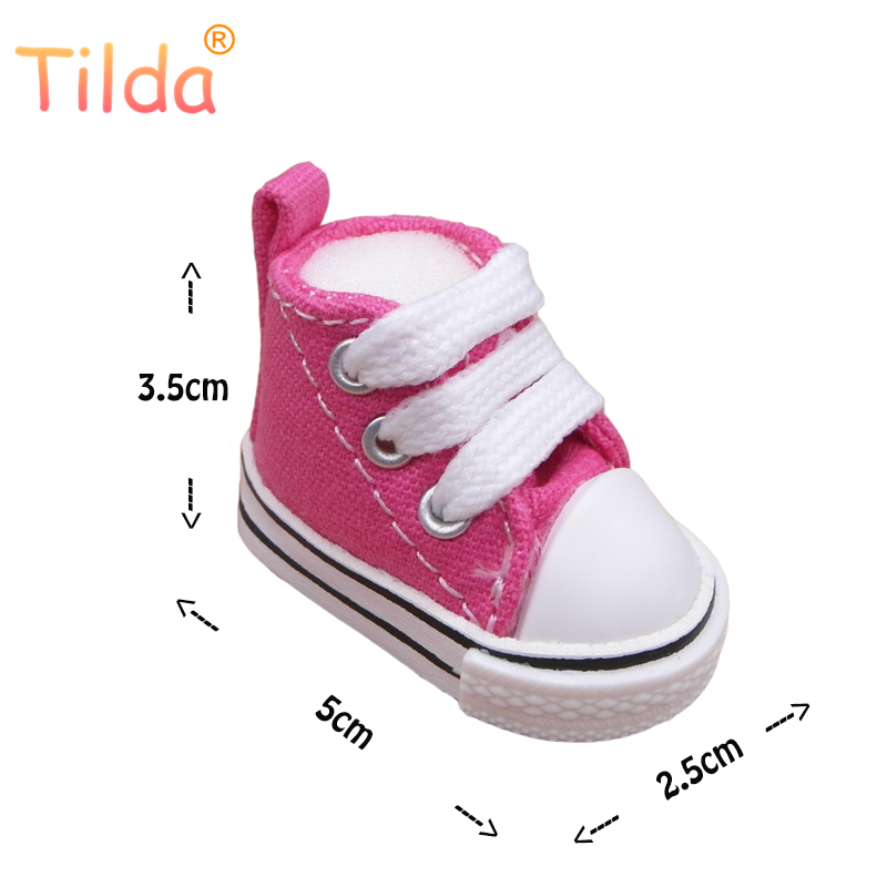 Tilda 5cm Canvas Doll Shoes 1/6 for BJD Dolls,Textile Denim Canvas Mini Toy Shoes Bjd Snickers For Handmade Doll Accessories Toy tilda 5pairs lot 5cm canvas sneak for bjd doll mini textile doll boots 1 6 polka dots designer sneakers shoes for handmade dolls
