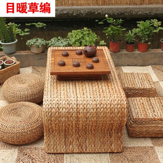 Head Warm Garden Furniture Handmade Rattan Coffee Table Straw Small Minimalist Creative Apartment Coffe