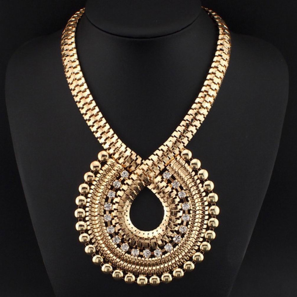 Preferred MANILAI Fashion Necklaces For Women Big Jewelry Choker With  EN55