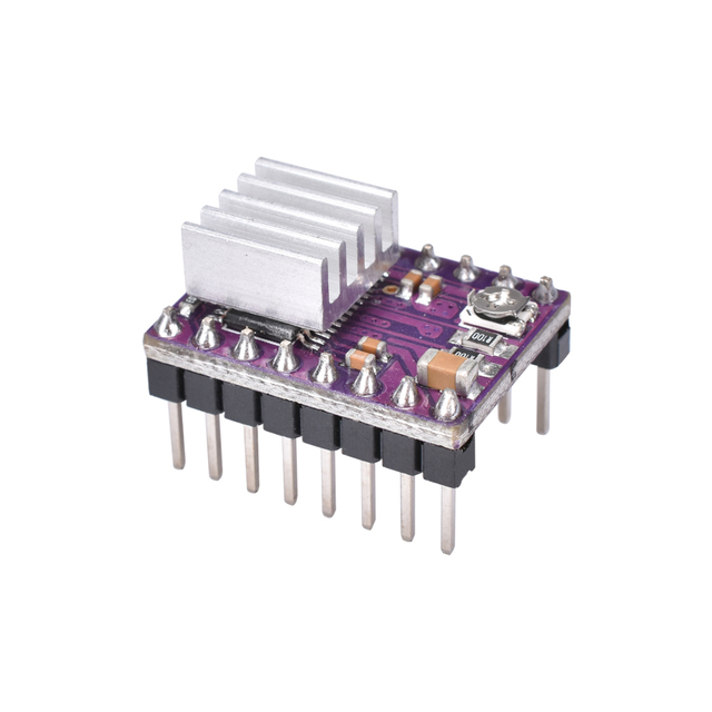 3D Printer Parts Stepstick A4988 DRV8825 Stepper Motor Driver Module With Heatsink Reprap Ramps 1.4/1.5/1.6 Control Board MKS 4