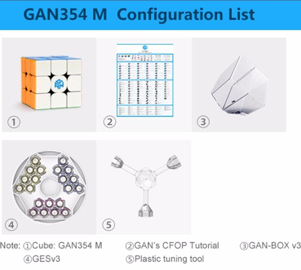 CuberSpeed Gans 354 M sans bâton 3x3 cube de vitesse GAN 354 M 3x3x3 cube de vitesse magnétique - 5