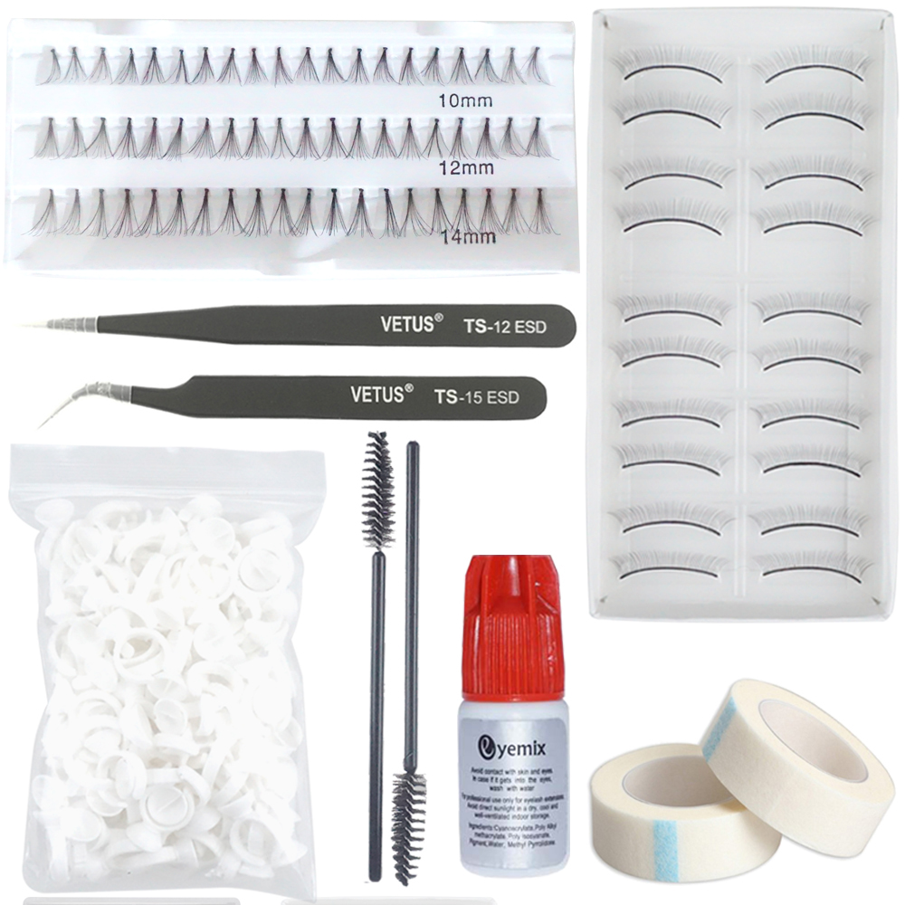 Eyemix Eyelash Extension Tools Set For Novice Practice Eyelash 7 Kinds Of Package Makeup Tools For Individual Eyelash