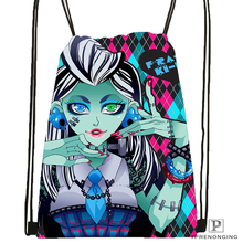 CustomMonster High Drawstring Backpack Bag Cute Daypack Kids Satchel (Black Back) 31x40cm#180531-04-14
