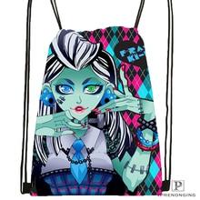 CustomMonster High Drawstring Backpack Bag Cute Daypack Kids Satchel Black Back 31x40cm 180531 04 14
