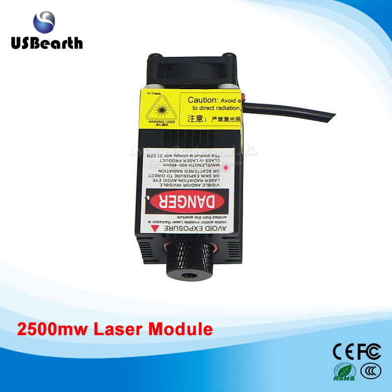 2500mw/5500mw Laser Head Laser Module 450NM Focusing Engraving Machine Tools Laser Tube