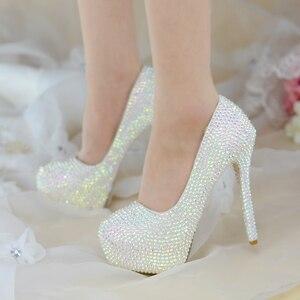 Image 3 - สตรีรองเท้าแต่งงานส้นสูงปั๊มBling Shiningรองเท้าสุภาพสตรีรองเท้าชุดใหม่มาถึงแฟชั่นรองเท้า
