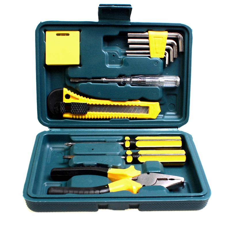 Urijk 11 In 1 Hardware Combination Toolbox Car Maintenance Kit Home Hardware Accessories Hand Tool Sets Mini Tools Gift Set
