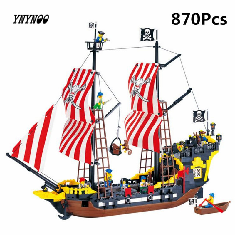 YNYNOO Enlighten 308 Pirates Series Black Pearl Building Block Sets Educational DIY Construction bricks baby toys for children 32pcs magnet toy 2016 new magnetic pipe building block children diy educational construction enlighten baby toys creative bricks