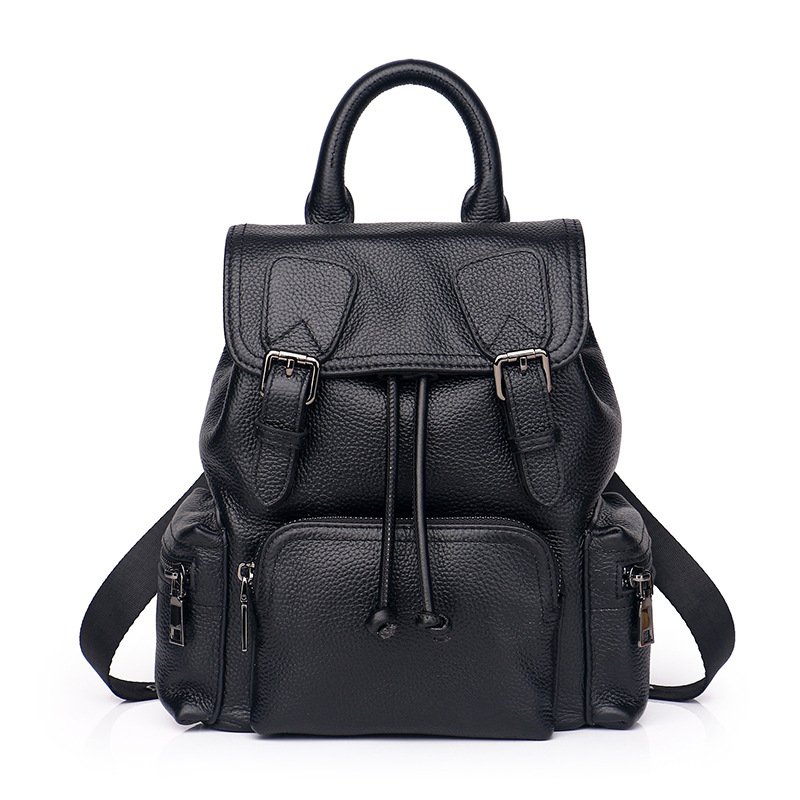 Fashion Brand Genuine Leather Women Backpack School Bag for Teenagers Chain Cow Leather Designer Soft Travel Bag Female Daypack amasie girls school bags for teenagers bag soft pu leather women bag travel backpack daypack get0046