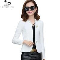 Fashion Women Coat Spring Autumn New 2019 Harajuku Thin Long Sleeve Ladies Jacket Short Slim White Jacket Casual Outerwear Women