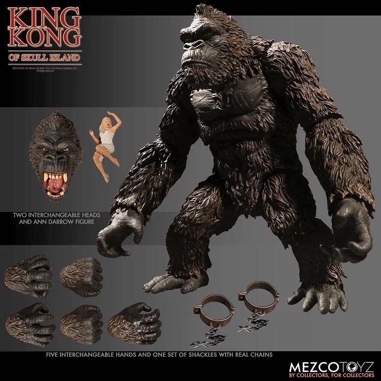 Film personnage de dessin animé jouets MEZCO Kong: île du crâne Kingkong modèle de figurine mobile de 8 pouces
