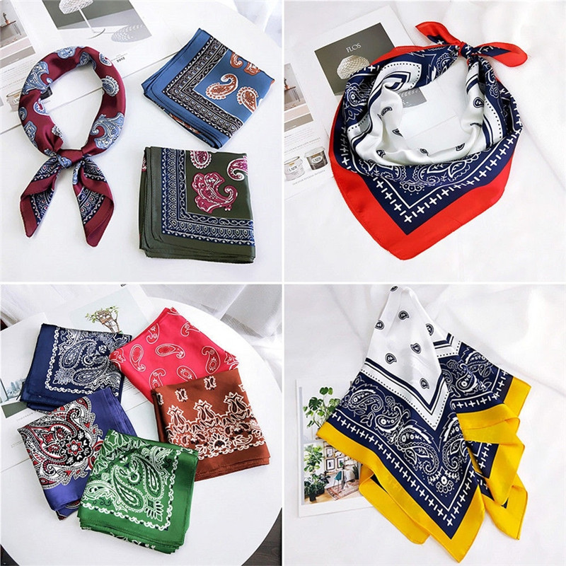 Imixlot Summer Spring Ethnic Headwear Headband Neck   Scarf   Wrist   Wraps   Square   scarves   print Handkerchief High Quality