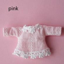 Cute Mini OB11 Blue pink Lace Dress Outfit for Obitsu11 1/12