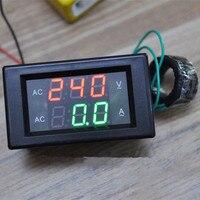 الرقمية الجهد الحالي متر فولت أمبير أمبير لوحة العدادات الفولتميتر ampermeter أدى ac80-300v 0-100a ac