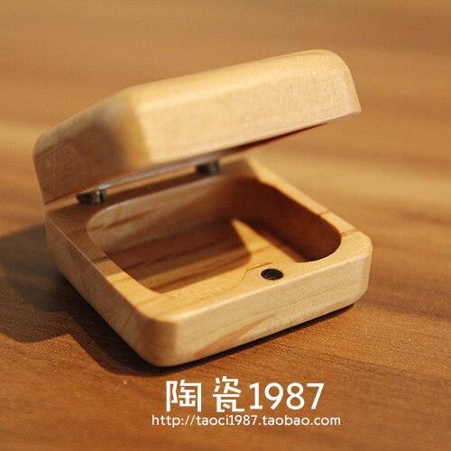 Mini handmade crafts logs of wood ring box stud font b earring b font box small