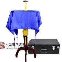 Mult-Function Floating Table(Anti Gravity Box+ Metals Candlestick), Illusions,Satge Magic Props,Floating Magic Tricks