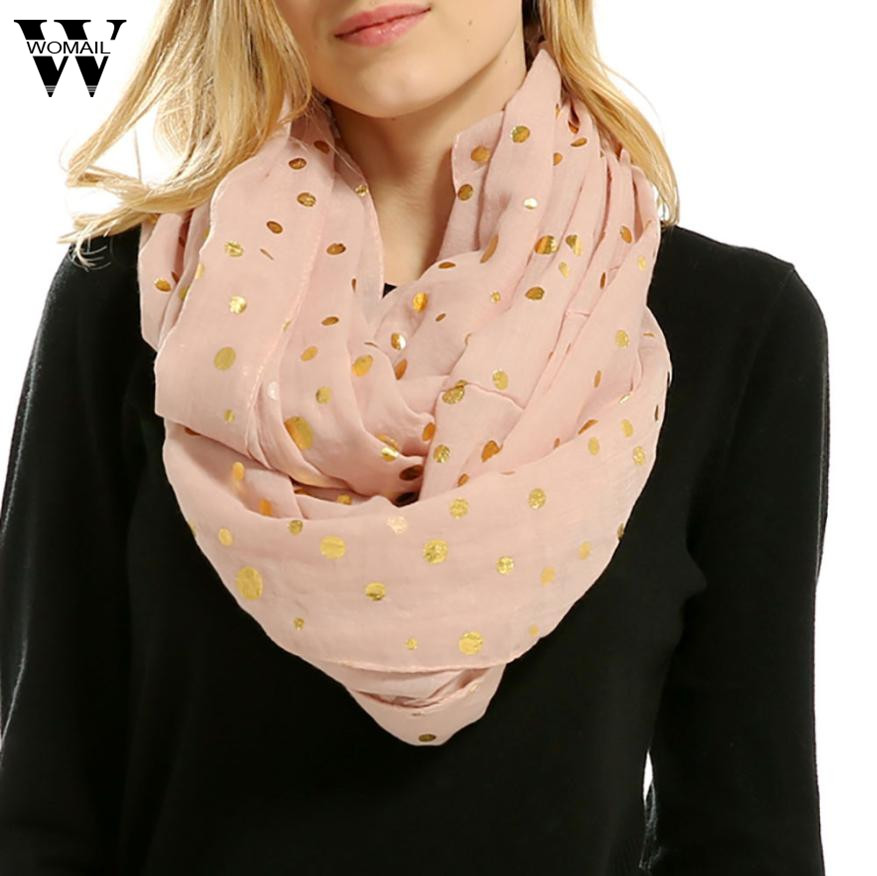 Women Soft Warm Dot Print Neck   Scarf     Wrap     Scarves   and Shawls for girl lady