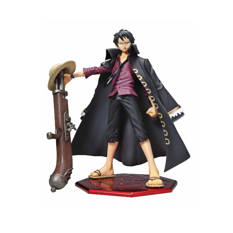 One Piece Film Strong World Ver Luffy Action Figure Black Clothes Ver Luffy PVC figure Toy