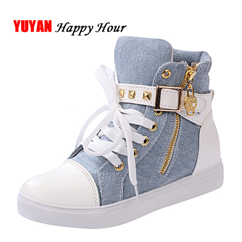 2019 Spring Women Shoes Sneakers Women Canvas Shoes Ladies High top Sneakers Womens Flats Black Blue Leopard Shoes A6672019 Spring Women Shoes Sneakers Women Canvas Shoes Ladies High top Sneakers Womens Flats Black Blue Leopard Shoes A667