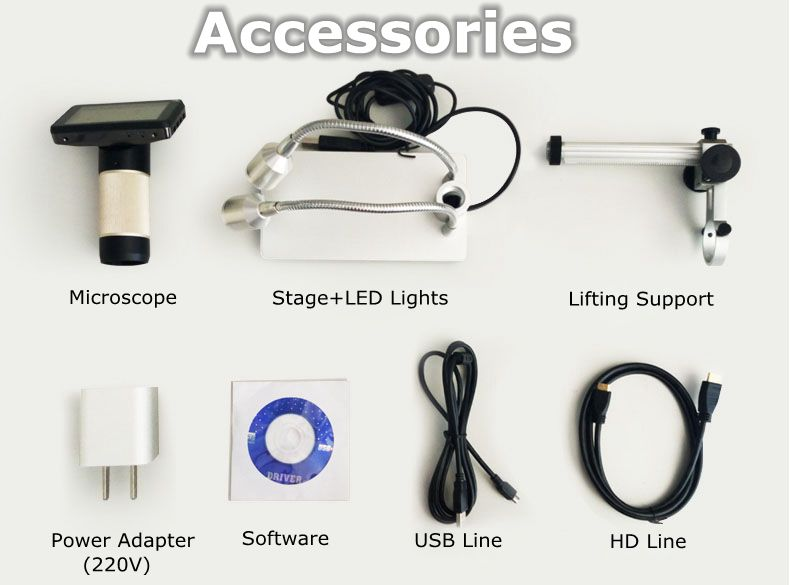 HDMI 10-300X LED šviečiantis 3,0 colių ekranas Daugiafunkcinė - Matavimo prietaisai - Nuotrauka 6
