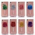 Transparente Moda Dinâmico Líquido Glitter Colorido Paillette Areia Quicksand Caso de Volta capa para iphone 7 7 plus 6 s 6 se 5 5S