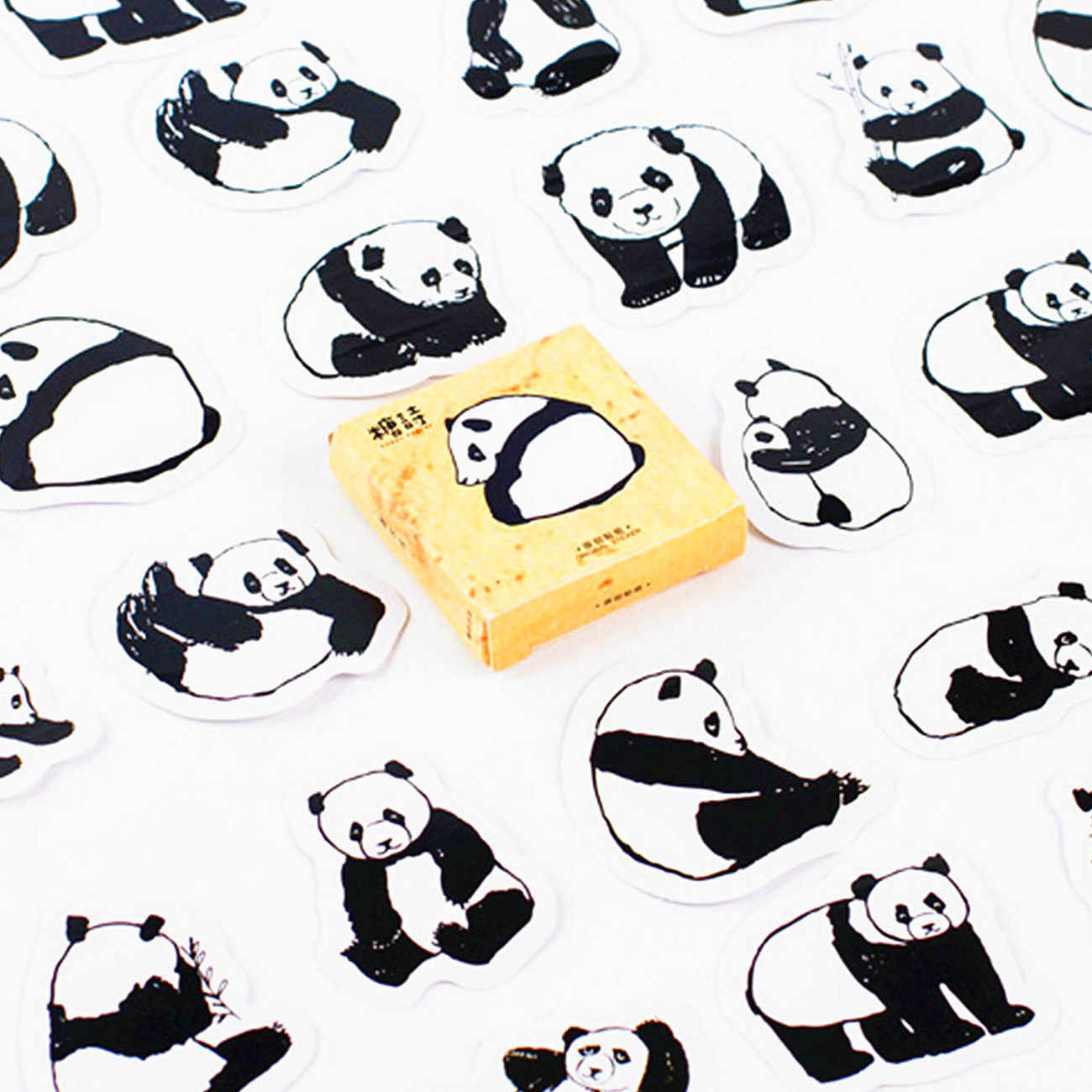 1 Uds. Bloc de notas agenda de libreta de pegatinas papel de panda de China Nota de libro reemplazable papelería regalo diario viajero