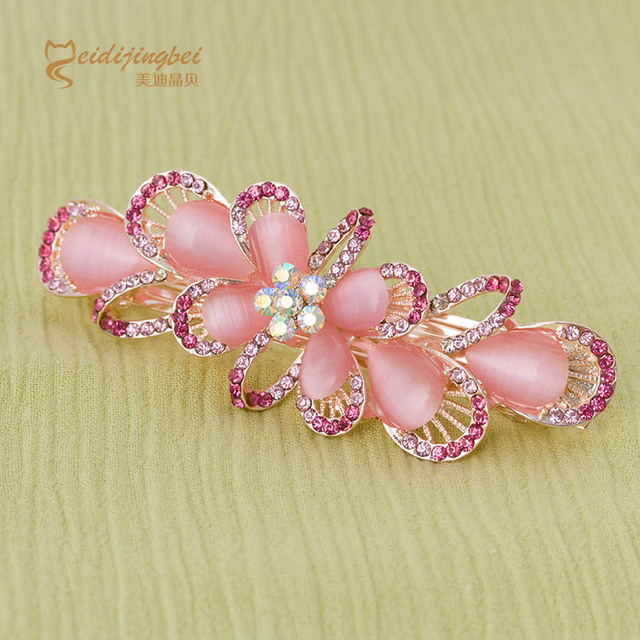 Aliexpresscom Buy Fashion women hair pins opal rhinestone zinc