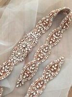 Handgemaakte strass crystal kralen applique bridal sash wedding belt gown versiering decor diy bruiloft acccesssories