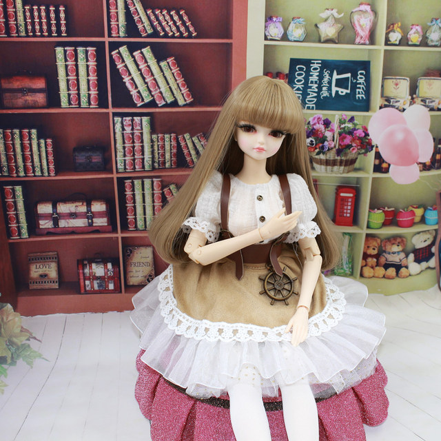 Fortune Days for 1/4 BJD Doll 45cm Highly brown fashion girl in four piece dress Set High Quality Blyth reborn girls Toy Gifts 2