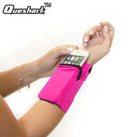 Double Side Wrist Wallet Pouch Wrist Support Pocket Wristband Badminton Tennis Sweatband Gym Cycling Running Phone Arm Band Bag