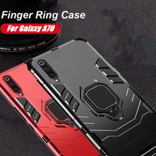 For Samsung Galaxy A60 Case Ring Holder Armor Bumper Back Cover A70 A80 A90 A10 M10 Phone Finger Fundas