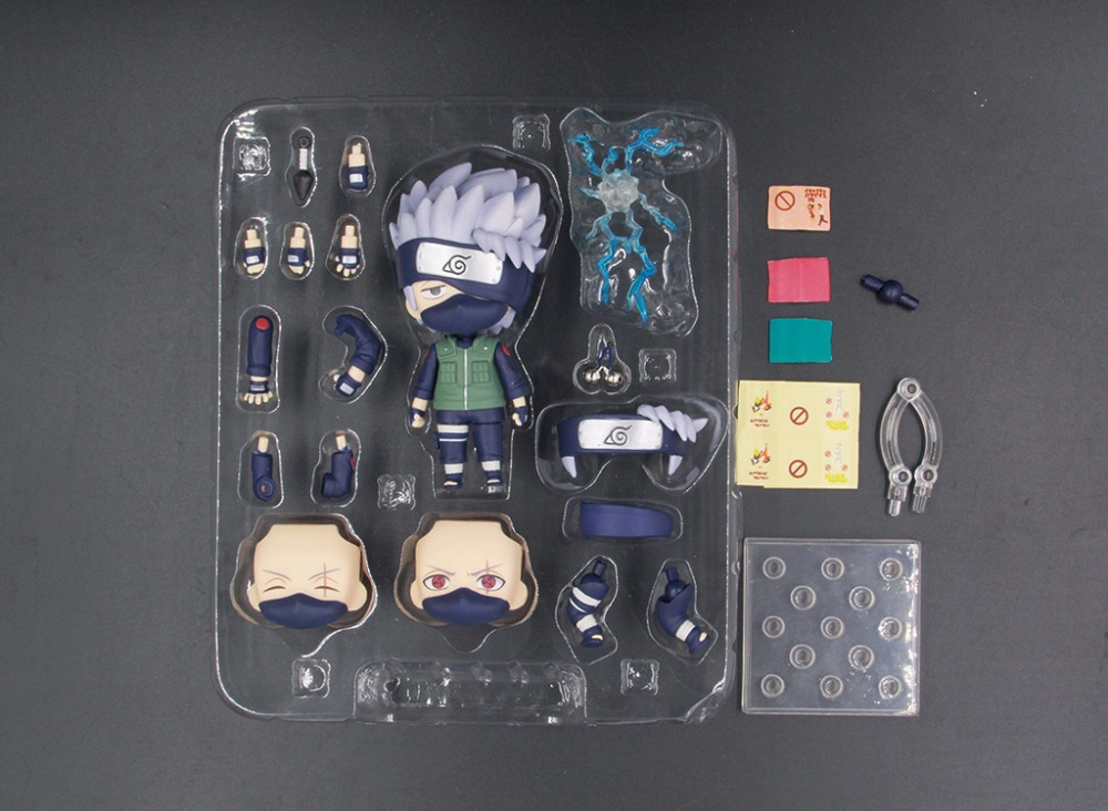10cm Naruto Shippuden Hatake Kakashi Nendoroid 724# Anime Action Figure PVC toys Collection figures for friends gifts 5