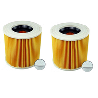 2 pcs Replacement Filter for Karcher Vacuum Cleaner Hoover Wet Dry Cartridage Filter for A1000 A2200 A3500 A223 Compatible Filte