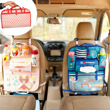 Kartun Car Seat Organizer, Backseat Organizer untuk Anak-Anak, Multi-Pocket Travel Storage Bag (Pelestarian Panas)