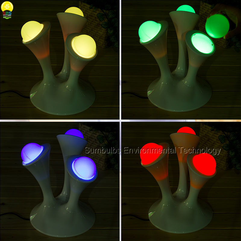 Big Promotion Magic Colorful LED Table Lamp Creative 7 colors Bed Light Bedroom Sleeping LED Night Lights For Decoration Gift yimia creative 4 colors remote control led night lights hourglass night light wall lamp chandelier lights children baby s gifts