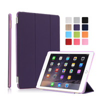 For Ipad Air 2 Case Pu Leather Together With Hard Pc Matte Transparent Back Shell For