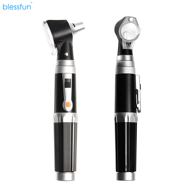New Professional Otoscopio Diagnositc Kit Medical Ear Care LED Portable Otoscope Home nursing check appliance 3x professional fiber optic medical otoscope physician earcare diagnostic ent kit halogen illumination light hs ot10 with box