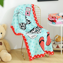 70X140CM Beach towels Microfiber Absorbent Cute Pattern Bath Towels Beach Towel Soft Quick-drying Summer Style towel fast drying soft microfiber bath towel beach towel 70 140 cartoon cute bear head baby towel high absorbent household two wear