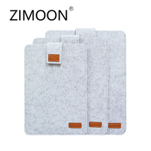 "Zimoon Felt Liner Sleeve Laptop Bag  Notebook Case Computer Bag Smart Cover for 11"" 13"" 15"" Macbook Air Pro Retina"