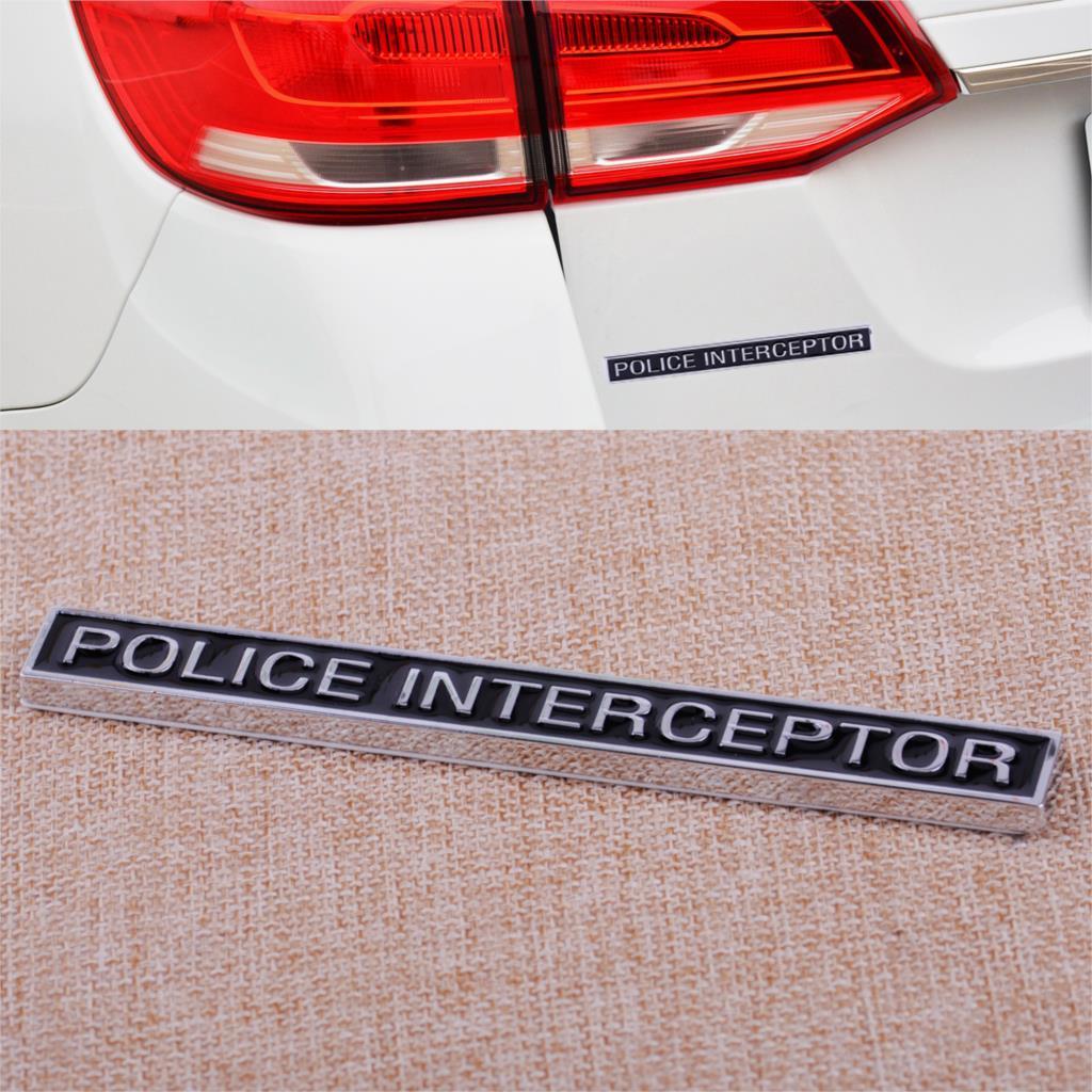 CITALL полиции перехватчик цинковый сплав герба Знак багажнике автомобиля Стикеры подходит для автомобилей Ford
