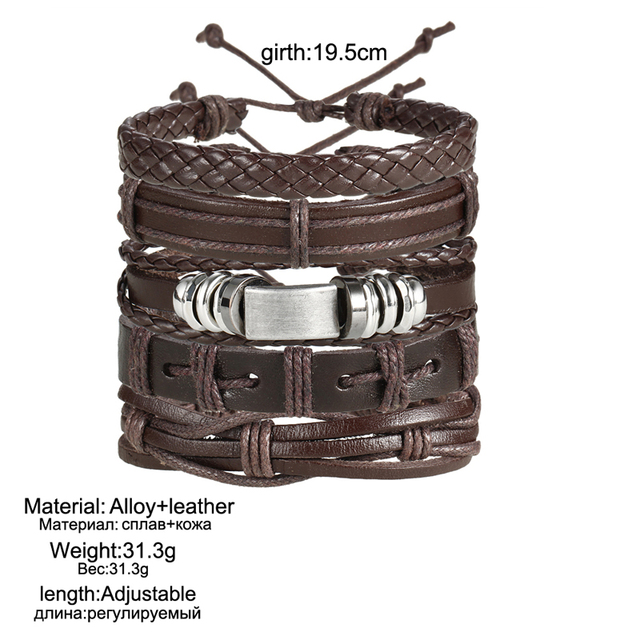 Men's Leather Bracelet  5